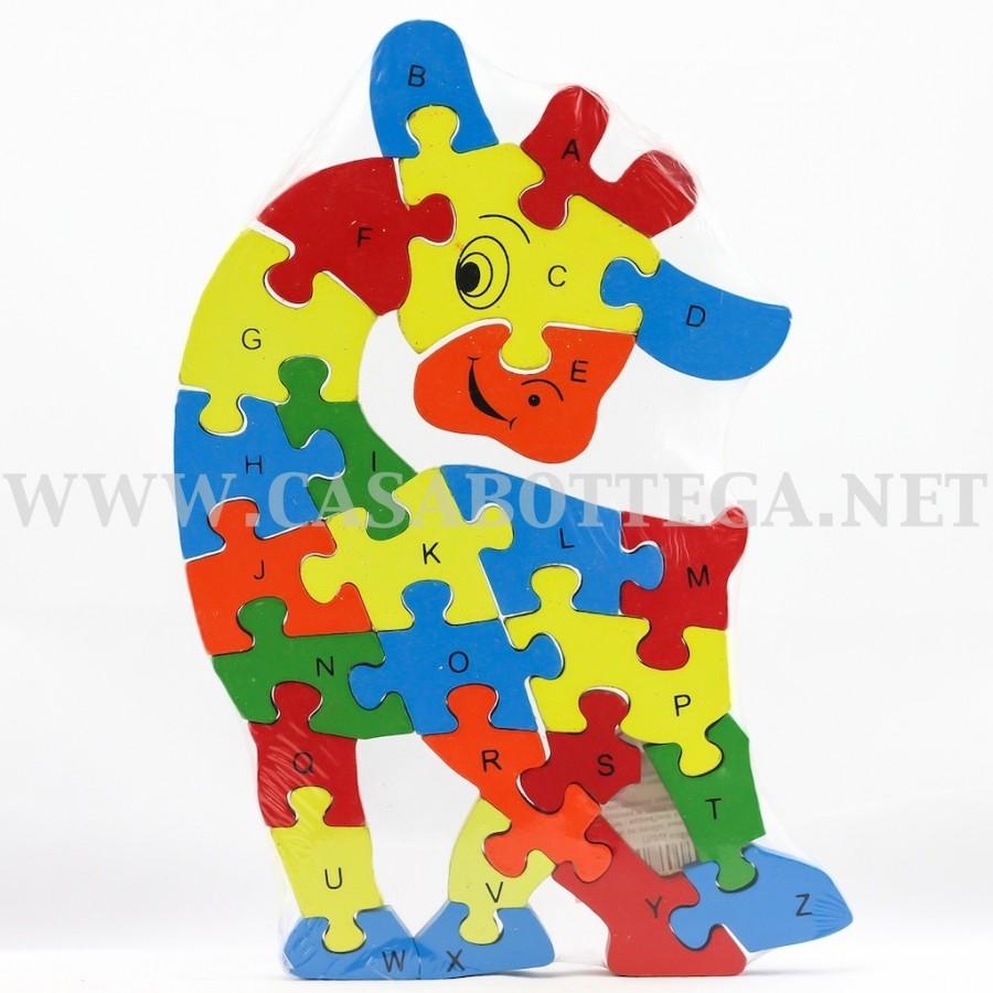 Giochi Puzzle In Legno Con Lettere E Numeri Giraffa Bassa