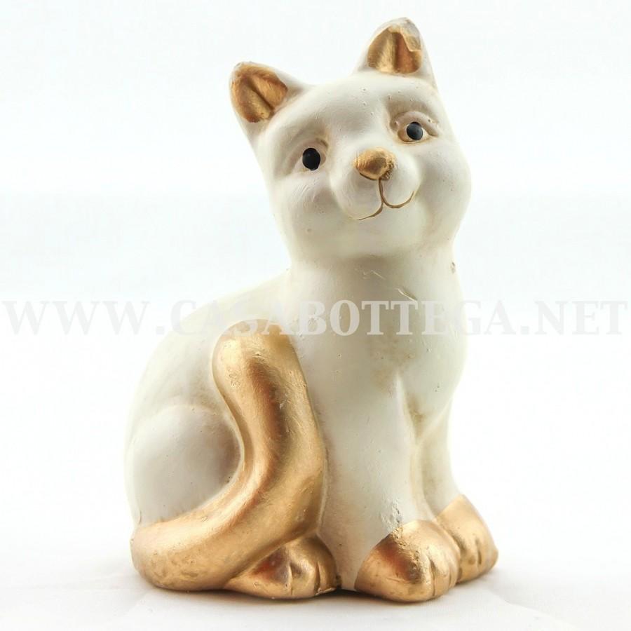 Gatto in ceramica 2 colori 2 medelli bomboniere casabottega for Gatto thun