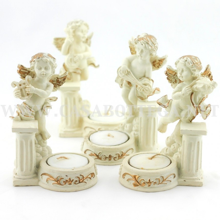 Matrimonio Tema Candele E Lanterne : Angelo porta candela segnaposto bomboniera with candele