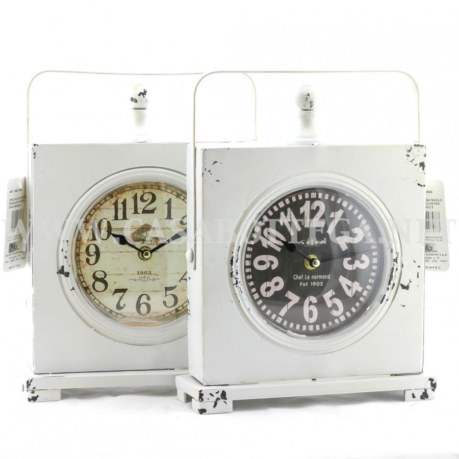 Orologio in ferro bianco shabby - Dalvey orologio da tavolo ...