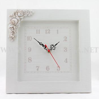 Orologio in legno shabby for Thun orologio da parete
