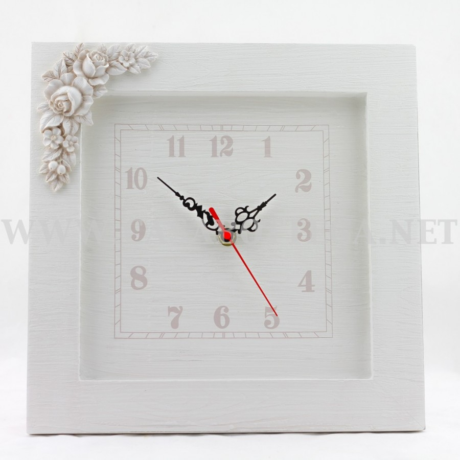 Orologio in legno shabby for Disegni da parete