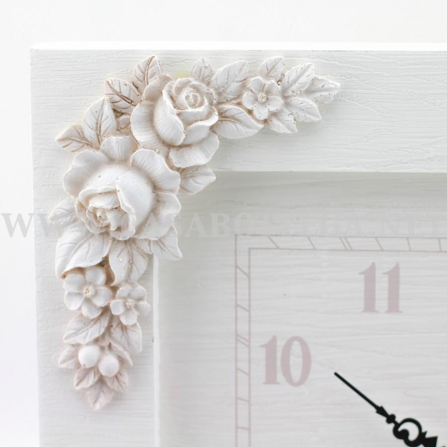 Orologio da parete in legno bianco - CasaBottega