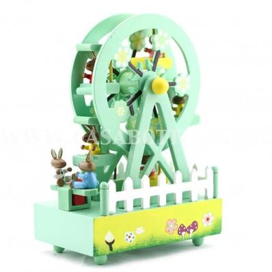 Giostra carillon ruota panoramica in legno carousel