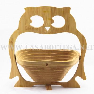 Cestino porta frutta in bamboo - Portafrutta in legno ...