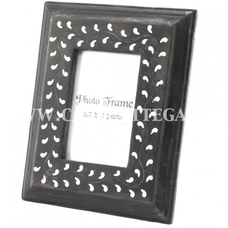 Cornice in legno nero con gocce bianche 10x15 casabottega for Cornici bianche