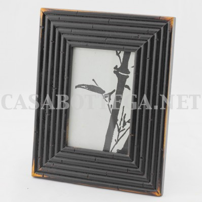 Cornice legno 9x13 in bamboo porta fotografie marrone o nera
