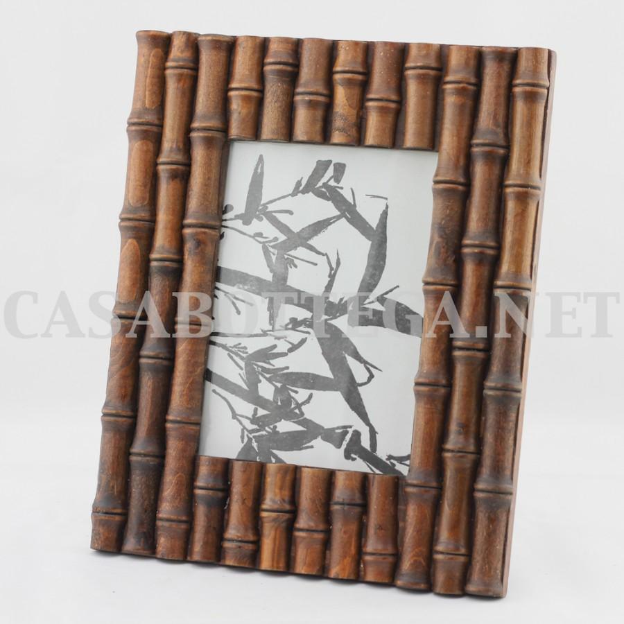 Cornice legno 10x15 noce intrecciata vintage casabottega for Cornice foto legno