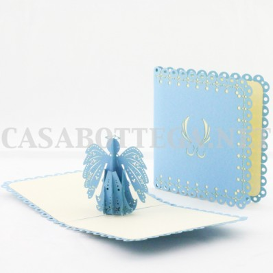 Biglietto auguri 3d angeli - kirigami - card 3d - pop up