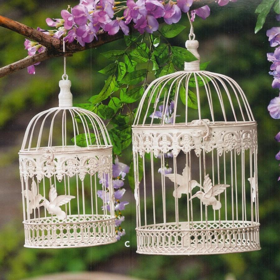 Gabbie per uccelli bianche rotonde 2 dimensioni for Carillon thun prezzi