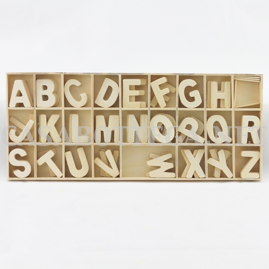 Lettere alfabeto in legno da appendere