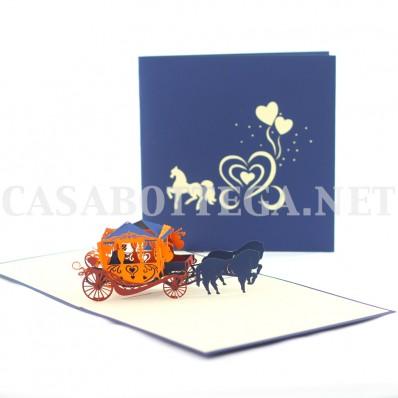 Biglietto auguri 3d angeli cupido - kirigami - card 3d - pop up