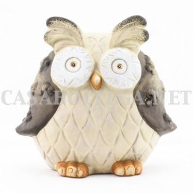 Gufo salvadanaio in ceramica decorazione della casa porta - Civetta porta fortuna ...