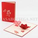 Biglietto auguri 3d angeli farfalla 2 - kirigami - card 3d - pop up