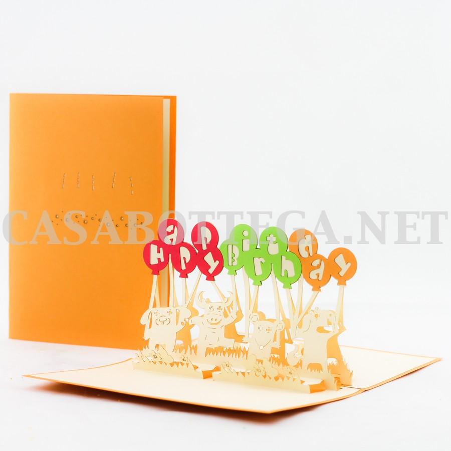 Biglietto Auguri Matrimonio Pop Up : Biglietto d kirigami torta di compleanno pop up