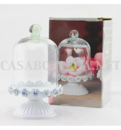 Alzatina in ferro con campana in vetro AD TREND