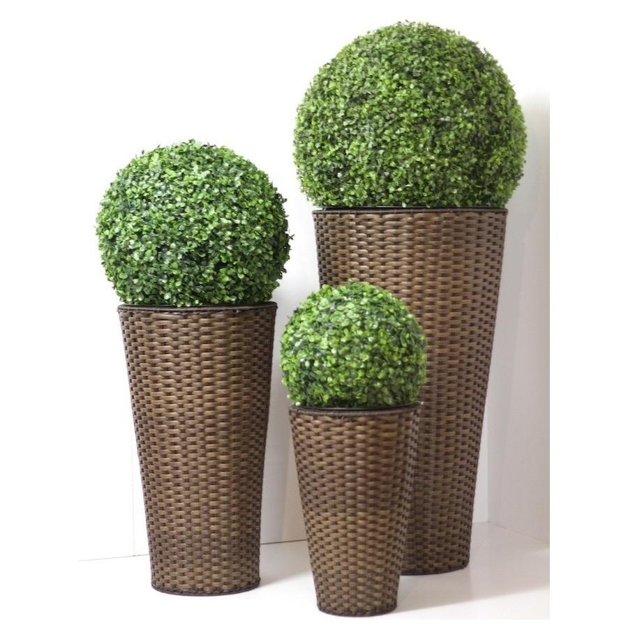 Vaso rattan arredo giardino for Alberelli da vaso per esterno