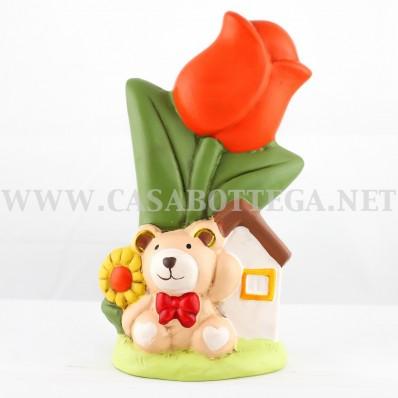 """Fiore d'arredo con in ceramica """" Girasole / tulipano """" NOVITà"""